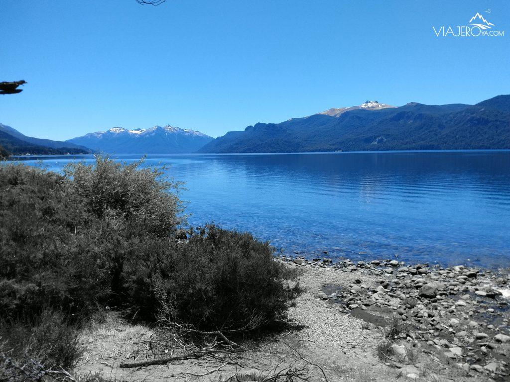Imagen del comienzo del Lago Traful